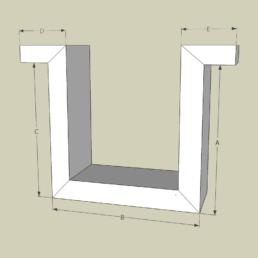 Gipskarton Formteile